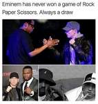 Eminem Rock Paper Scissors